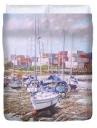 Eling Yacht Southampton Containers Duvet Cover by Martin Davey