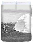 Elinor Smith Parachutes Duvet Cover