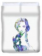 Elithabeth Taylor Duvet Cover by Naxart Studio