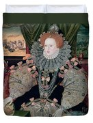 Elizabeth I Armada Portrait Duvet Cover by George Gower
