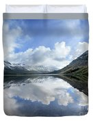 Elizabeth Lake Detail 2 - Glacier National Park Duvet Cover