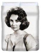 Elizabeth Taylor, Vintage Hollywood Legend By John Springfield Duvet Cover