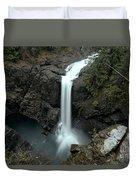 Elk Falls Provincial Park Waterfall Duvet Cover