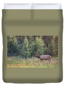 Elk In The Forest Duvet Cover