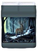 Elk In The Morning Duvet Cover