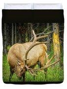 Elk In The Woods Duvet Cover