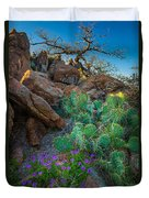 Elk Mountain Flowers Duvet Cover by Inge Johnsson