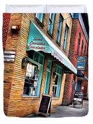 Ellicott City Shops Duvet Cover