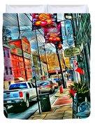 Ellicott City Street Duvet Cover