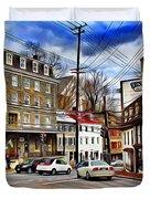 Ellicott City Streets Duvet Cover
