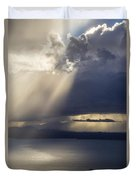 Elliott Bay Storm Clouds Ferry Duvet Cover