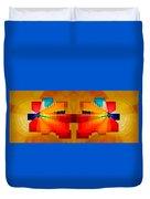 Elliptical Iridescence Duvet Cover