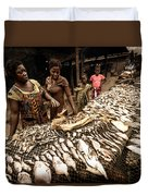 Elmina Fish Sellers Duvet Cover