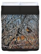 Elusive Woodcock's Woody Environment Duvet Cover