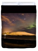 Elv Or Troll And Viking With A Sword In The Northern Light Duvet Cover