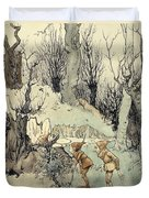 Elves In A Wood Duvet Cover by Arthur Rackham