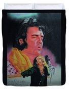 Elvis And Jon Duvet Cover