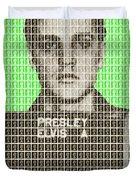 Elvis Army Mug Shot - Green Duvet Cover
