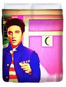 Elvis Has Left The House 20151225 Square Duvet Cover