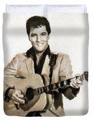 Elvis Presley By Mb Duvet Cover