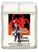 Elvis Presley In King Creole 1958 Duvet Cover