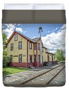 Ely Vermont Train Station Duvet Cover