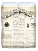 Emancipation Proclamation Duvet Cover by Photo Researchers