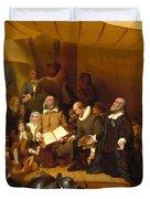 Embarkation Of The Pilgrims Duvet Cover
