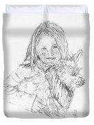 Emelyne With Er Dog Duvet Cover