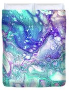 Emerald And Amethyst  Fragment 9.  Abstract Fluid Acrylic Painting Duvet Cover