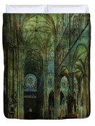 Emerald Arches Duvet Cover