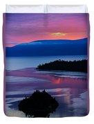 Emerald Bay Sunrise Portrait Duvet Cover