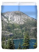 Emerald Bay With Mountain Duvet Cover