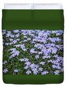 Emerald Blue Creeping Phlox Duvet Cover