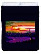 Emerald City Sunset Duvet Cover