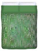 Emerald Green - Abstract Art Duvet Cover