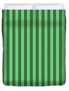 Emerald Green Striped Pattern Design Duvet Cover