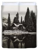 Emerald Lake, Canada Duvet Cover