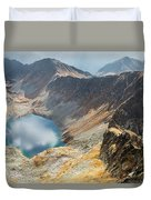 Emerald Lake Surrounded By Tatra Mountains, Poland Duvet Cover