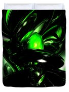 Emerald Nigthmares Abstract Duvet Cover