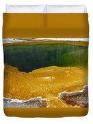 Emerald Pool Yellowstone National Park Duvet Cover