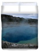 Emerald Pool - Yellowstone Np Duvet Cover
