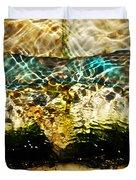Emerald Ripples Duvet Cover