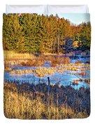Emerging Marsh Duvet Cover