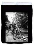 Emett: Lunacycle, 1970 Duvet Cover
