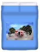 Emiles Road Side Grocer Duvet Cover