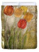 Emily Damask Tulips IIi Duvet Cover