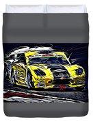 Emily Linscott On The Racetrack - Ginetta Junior Championship Duvet Cover