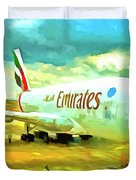 Emirates A380 Airbus Pop Art Duvet Cover