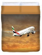 Emirates Boeing 777-36n 2 Duvet Cover